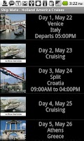 Screenshot of Ship Mate - Holland America