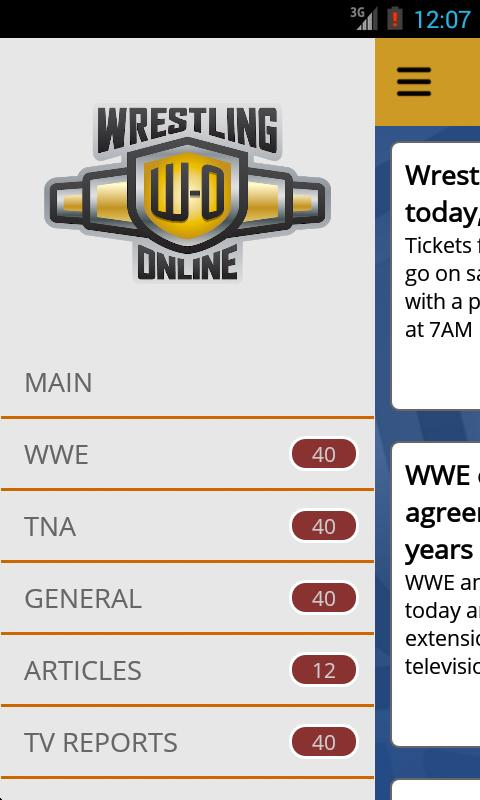 Wrestling-Online.com News- screenshot