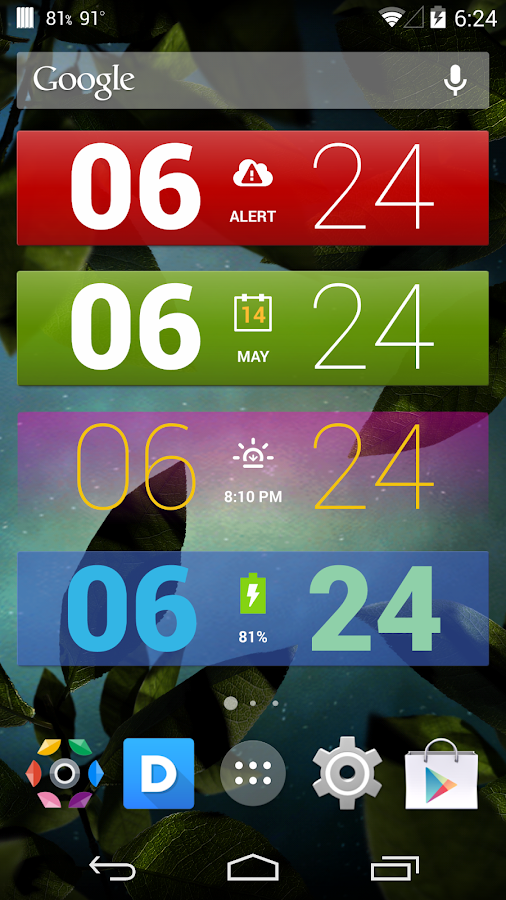 Colourform XP (for HD Widgets) - screenshot