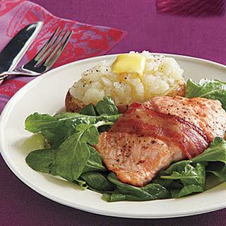 Bacon-Wrapped Salmon.