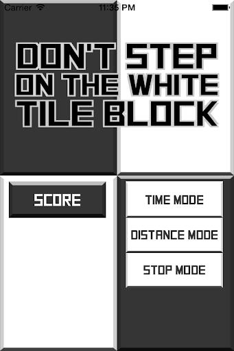 Don't Step on White Block Tile