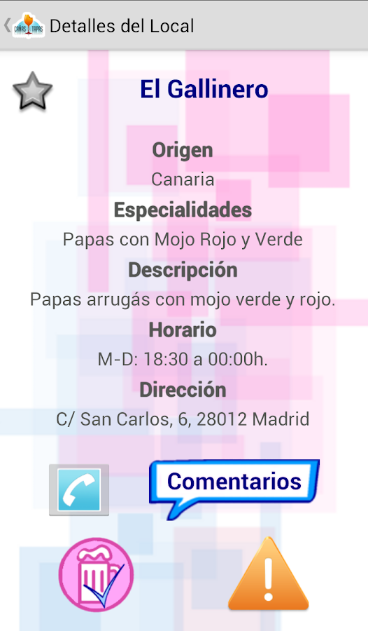 Cañas & Tapas Madrid - screenshot