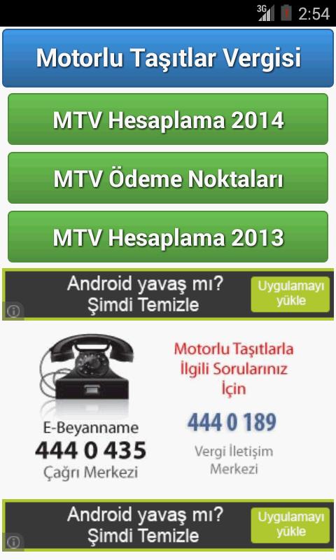 Motorlu Taşıtlar Vergisi 2014 - screenshot
