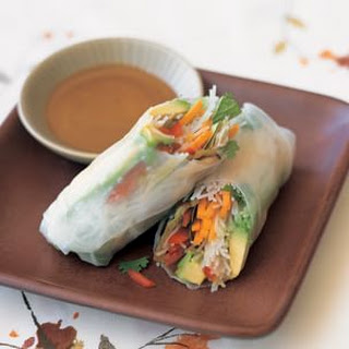 Summer Vegetable Rolls with Rice Noodles.