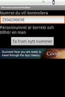 Personnummerkollen- screenshot thumbnail