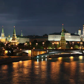 by Kseniya Maksimenko - City,  Street & Park  Night ( moscow, night, architecture, kremlin, city )