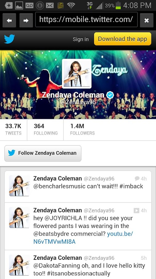 Zendaya Fans - screenshot