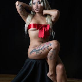 Ayumi by Zetsu Nawa - Nudes & Boudoir Boudoir ( ayumi, ribbon, bow, tattoo, suicide )