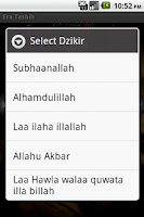 Screenshot of Tasbeeh