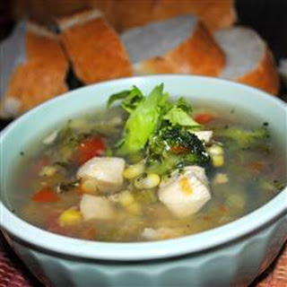 Meghan and Jenn's Veggie, Chicken and Herb Soup