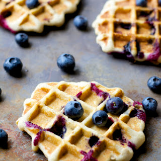 Blueberry Oatmeal Waffles.