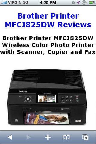 MFCJ825DW Printer Reviews