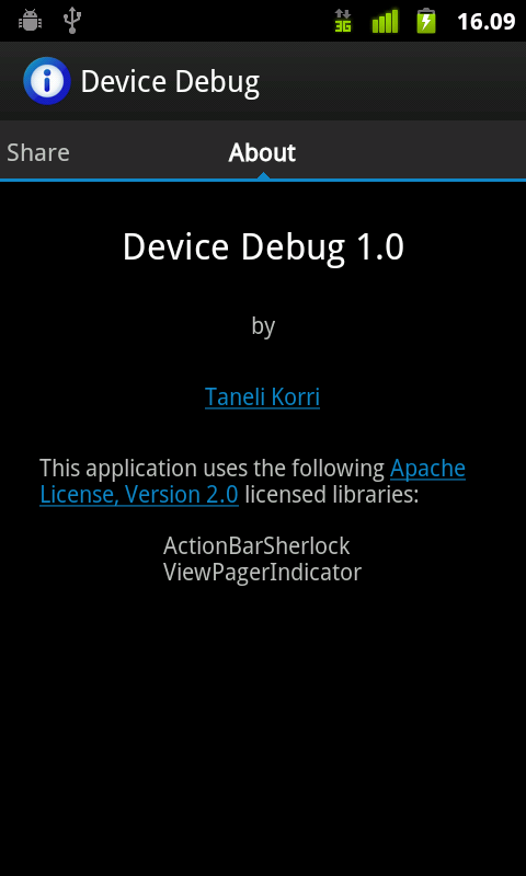 Device Debug - screenshot