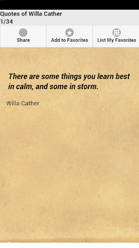 Quotes of Willa Cather
