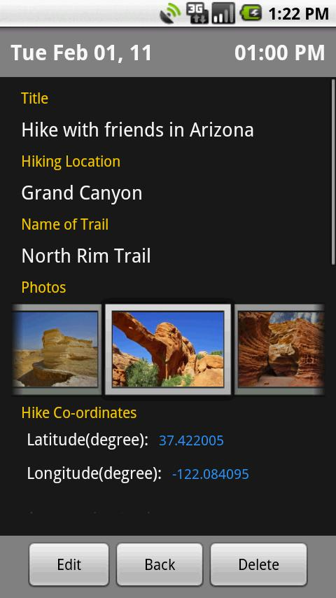 Hiking Diary - screenshot