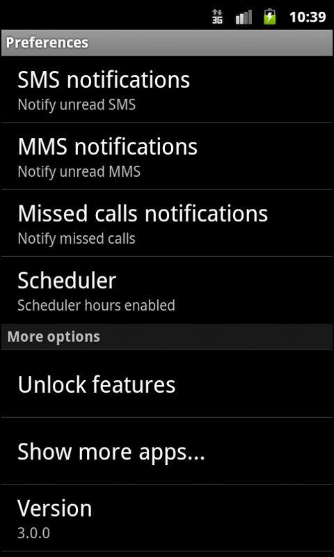 Phone notifier - screenshot