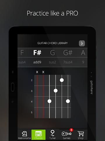 android Accordeur Guitares -GuitarTuna Screenshot 5