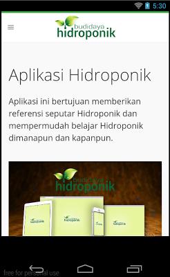 Hydroponic Application - screenshot