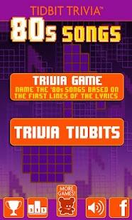 '80s Song Lyrics-Tidbit Trivia