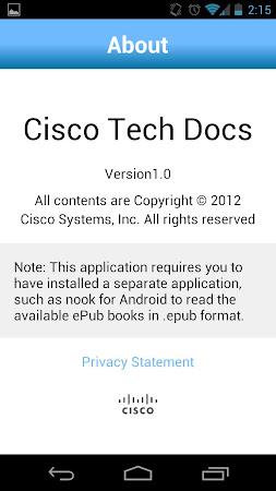 Cisco Tech Docs 1.0 screenshot 120255