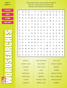Take a Break's Wordsearches- screenshot thumbnail