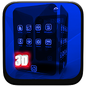 Xenon Blue Next Launcher Theme