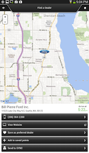 Ford SYNC® Destinations - screenshot thumbnail