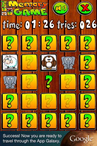 Screenshots for aniMemory Animated Memory Game
