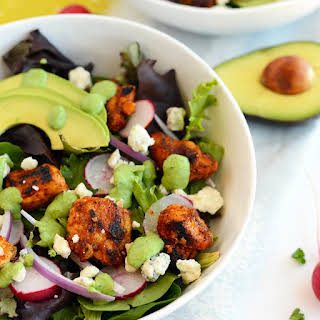 Sriracha Chicken Salad with Blue Cheese and Green Goddess Dressing.
