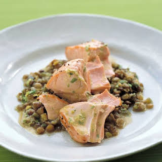 Roasted Salmon With Lentils.