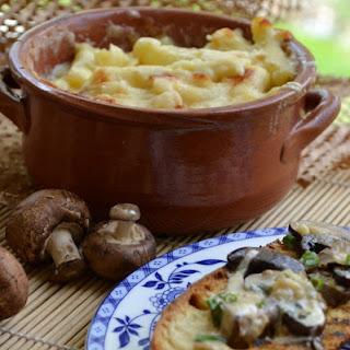 Creamed Morel Mushrooms On Grilled Ciabatta
