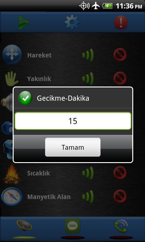 Güvenlik - Sensör Alarmı Free - screenshot