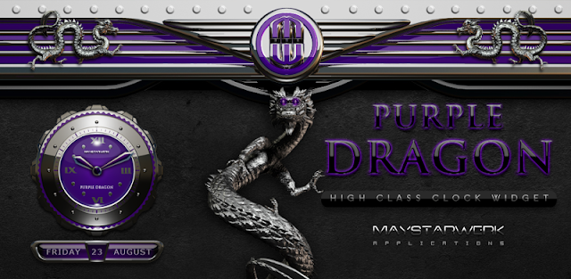 Dragon Clock Widget purple
