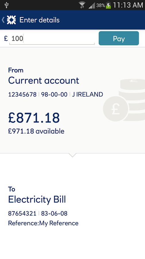 Ulster Bank NI - screenshot