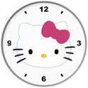 Hello Kitty Pink Bow ClockWide icon