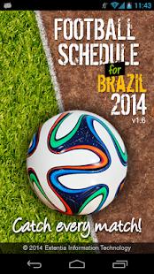 Football Schedule Brazil 2014 - screenshot thumbnail
