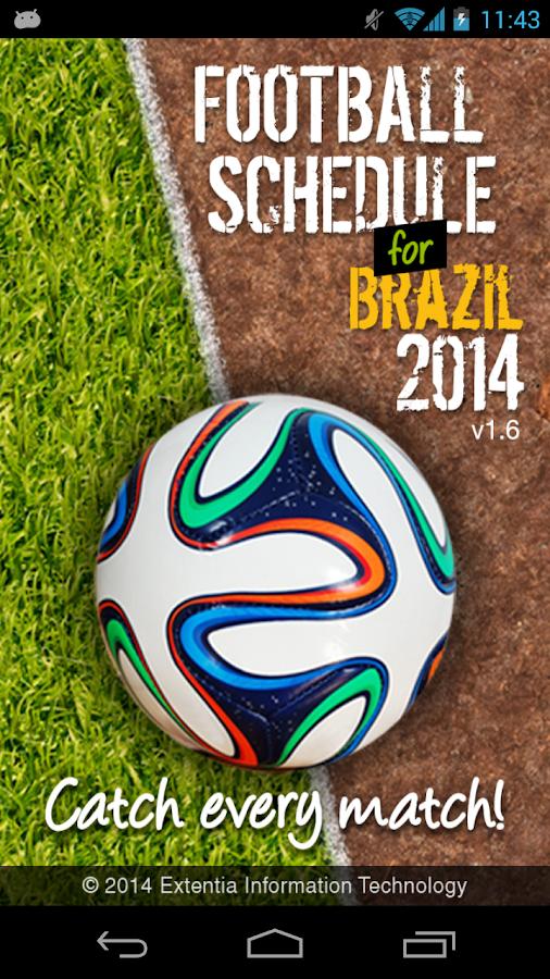 Football Schedule Brazil 2014 - screenshot