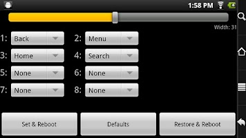 Screenshot of Buttons for RW Rooted Archos