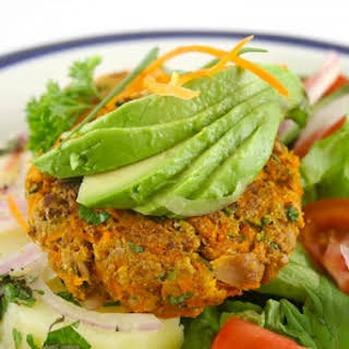 Crab Cakes Stuffed with Hass Avocado.