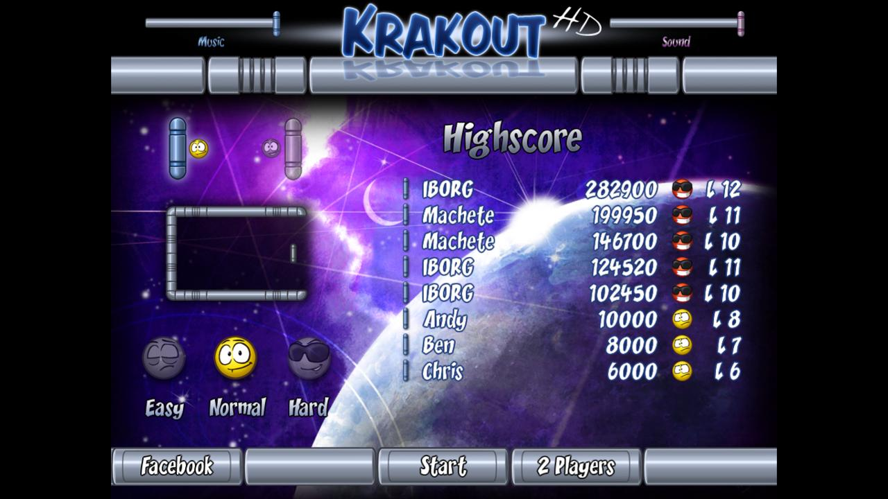 Krakout HD- screenshot