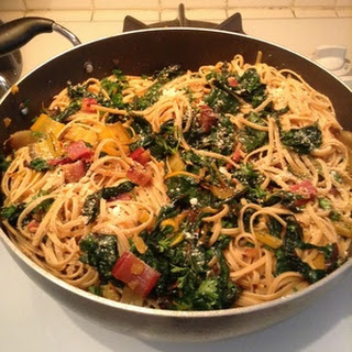 Linguine with Pancetta and Swiss Chard