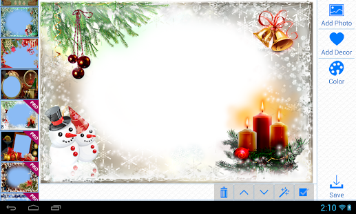 christmas photo frames screenshot thumbnail