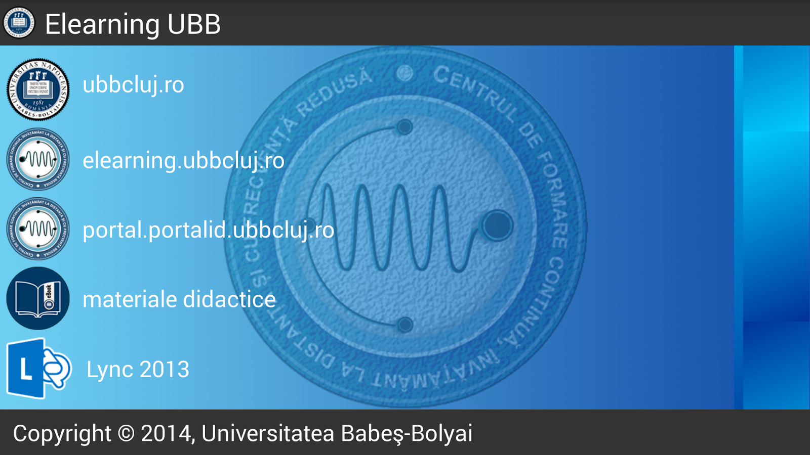 Elearning UBB- screenshot