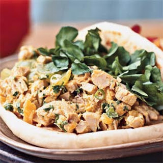 Curried Chicken Salad in Naan