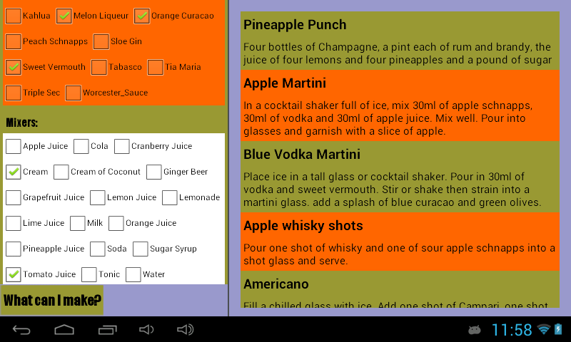 Cocktail Recipe Generator- screenshot
