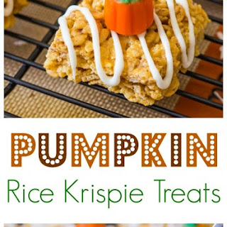 Pumpkin Pie Rice Krispie Treats