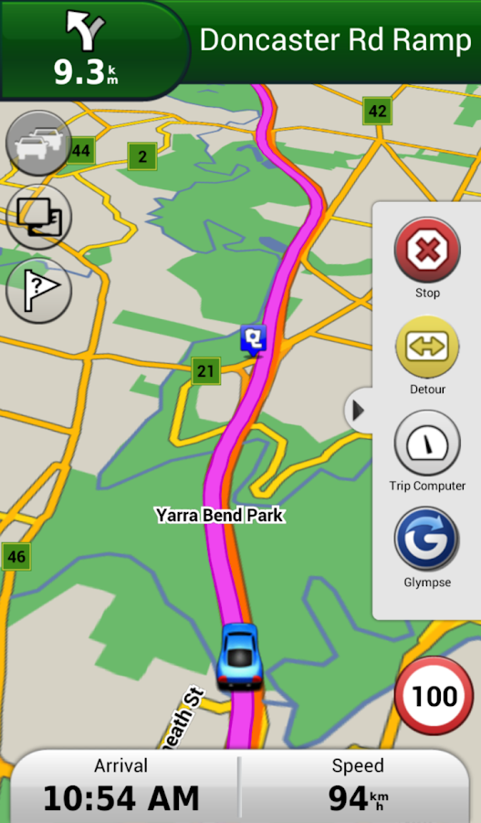 Garmin Navigator - screenshot