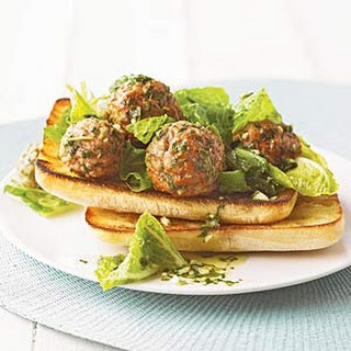 Meatballs and Greens on Ciabatta.