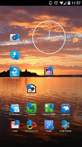 Smiley Blue Face Icon Theme
