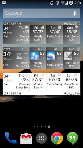 Forecast Widget HD